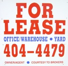 For Lease, Call 404-4479